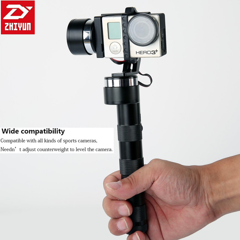 ZhiYun Z1-PRO Handheld 3-Axis Gimbal Sports Action Camera Stabilizer Gyro for GoPro 3 3+ 4 [hk stock][official international version] xiaoyi yi 3 axis handheld gimbal stabilizer yi 4k action camera kit ambarella a9se75 sony imx377 12mp 155‎ degree 1400mah eis ldc sport camera black