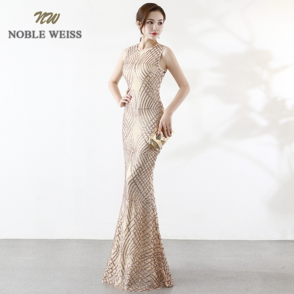 prom     dresses   long mermaid   prom     dress   o-neck sequin vestidos de festa longo evening gown free shipping