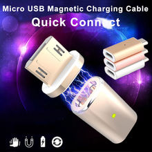Rose Gold Silver Color Micro USB Magnetic Adapter Charger Cable Metal For Android Phone Samsung LG lot