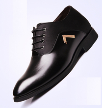 2016 New Business Dress Men Shoes Leisure Four Season In Stealth Elevator Men's Leather Shoes
