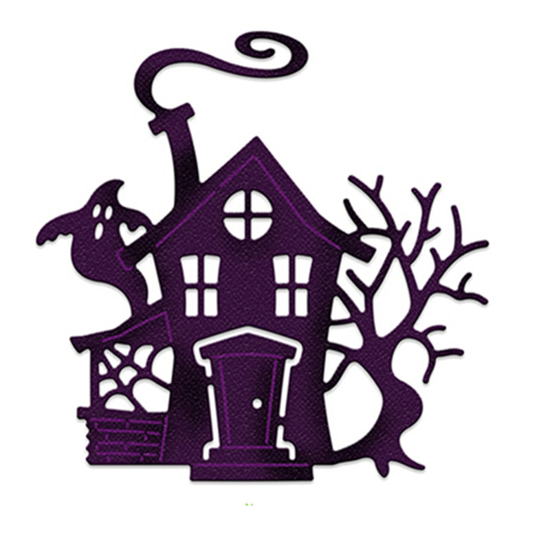 5.8x5.8cm Ghost House Craft Dies Metal Cutting Dies Stencil for DIY Scrapbookingphoto album Decorative DIY Paper Card