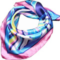 New Fashion Women's Work Wear Silk Scarf Print Stripe Satin Square Scarf Hotel Bank Work Wear Scarf 60*60Cm 100 Colors