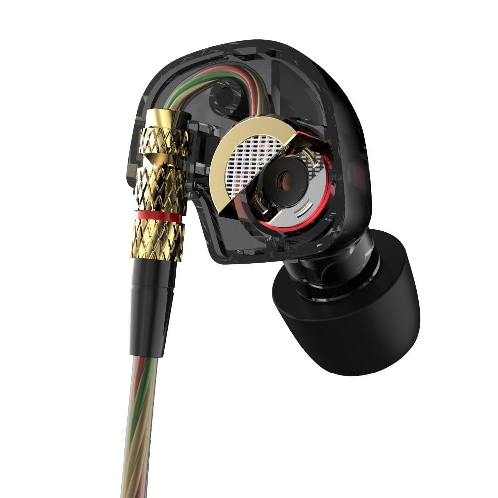 Earphone 2016 New Arrival Original KZ ATE 3.5mm in ear Earphones HIFI Metal auriculares Earphones Super Bass fone de ouvido
