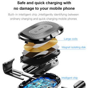 Image 4 - Baseus gravity Car Holder wireless charger for iPhone X Samsung S10 S9 S8 mobile phone QI wireless charger fast wireless charger