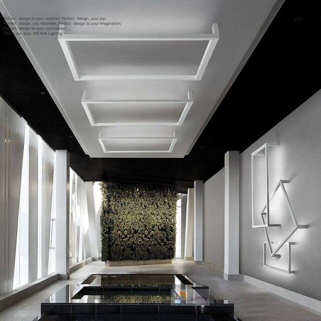 Moderne Led Plafonniers haute brillant acrylique, blanc chaud ...