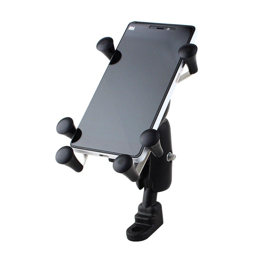 imágenes para Ajustable universal bici de la motocicleta del montaje del manillar de soporte de bicicleta de teléfono a prueba de golpes para samsung para lg para sony para iphone