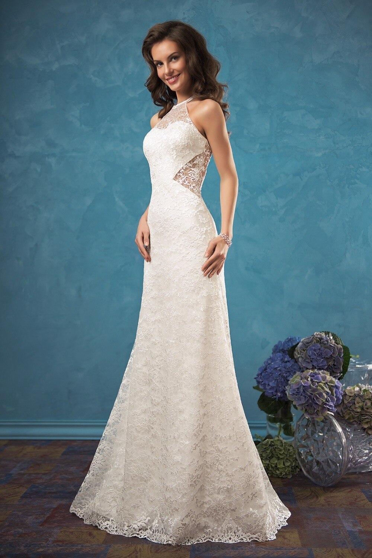 Vestido noiva New Mermaid Wedding Dresses 2017 Halter Neck ...