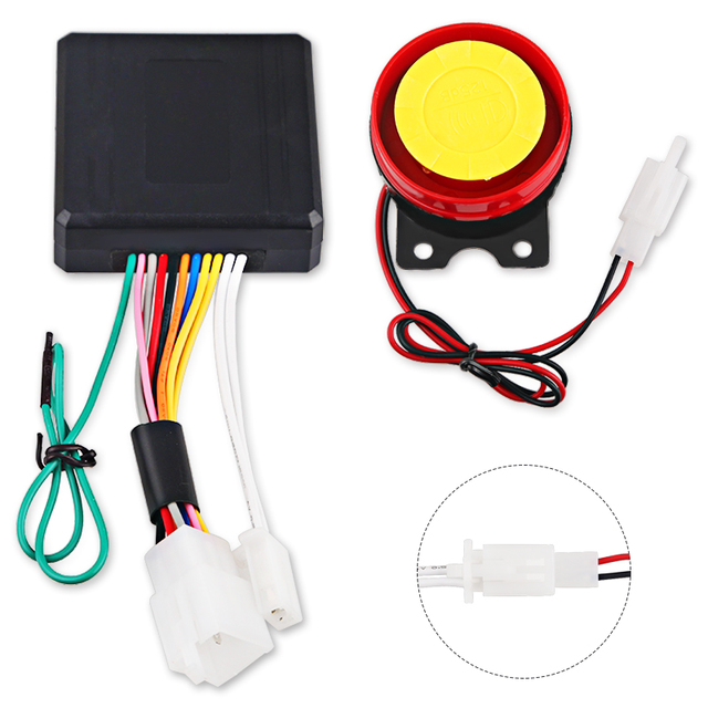 1Set 12V Motorcycle Scooter Anti-theft Security Alarm System Remote Control Start Bike ATV  Motorbike Protection for Suzuki ect 2