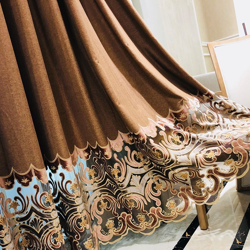 Huayin Velvet Linen Curtains Tulle Window Curtain For: Chinese Classic Royal Chenille Velvet Embroidered Curtains