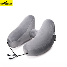 2019 Newest travel accessories Travelsky Upgrade H-Shape neck pillow folding air inflatable business trip pillows