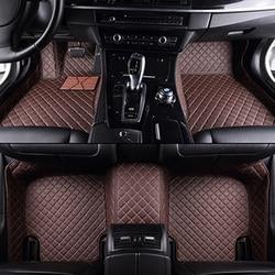 مخصص سيارة الحصير لتويوتا جميع نماذج كورولا كامري Rav4 أوريس بريوس Yalis أفينسيس 2014 اكسسوارات السيارات التصميم الطابق حصيرة