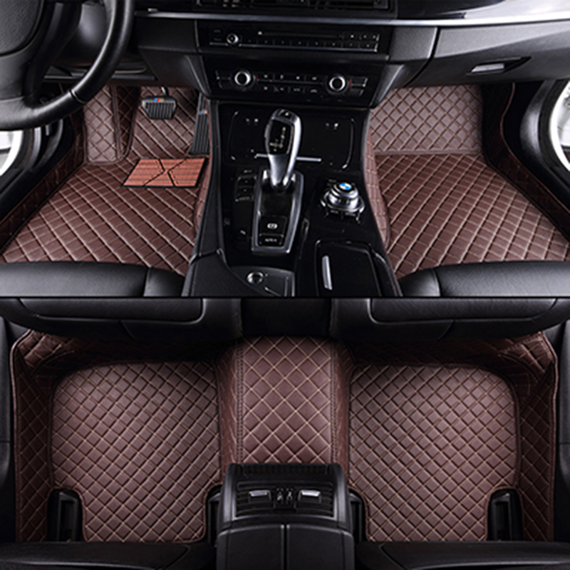 Custom car floor mats for Toyota All Models Corolla Camry Rav4 Auris Prius Yalis Avensis 2014 accessories auto styling floor mat front rear special leather car seat covers for toyota corolla camry rav4 auris prius yalis avensis suv auto accessories