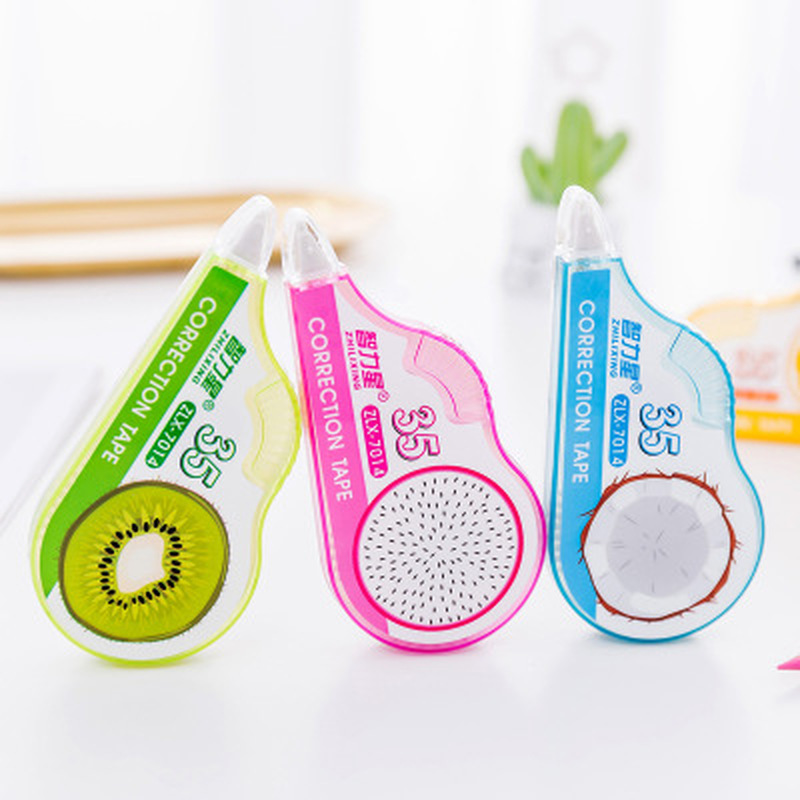 1pcs Fruit Correction Tape Masking Tape Novelty Stationery Kawaii Pattern Correction Belt Cute Tapes School Office Supplies