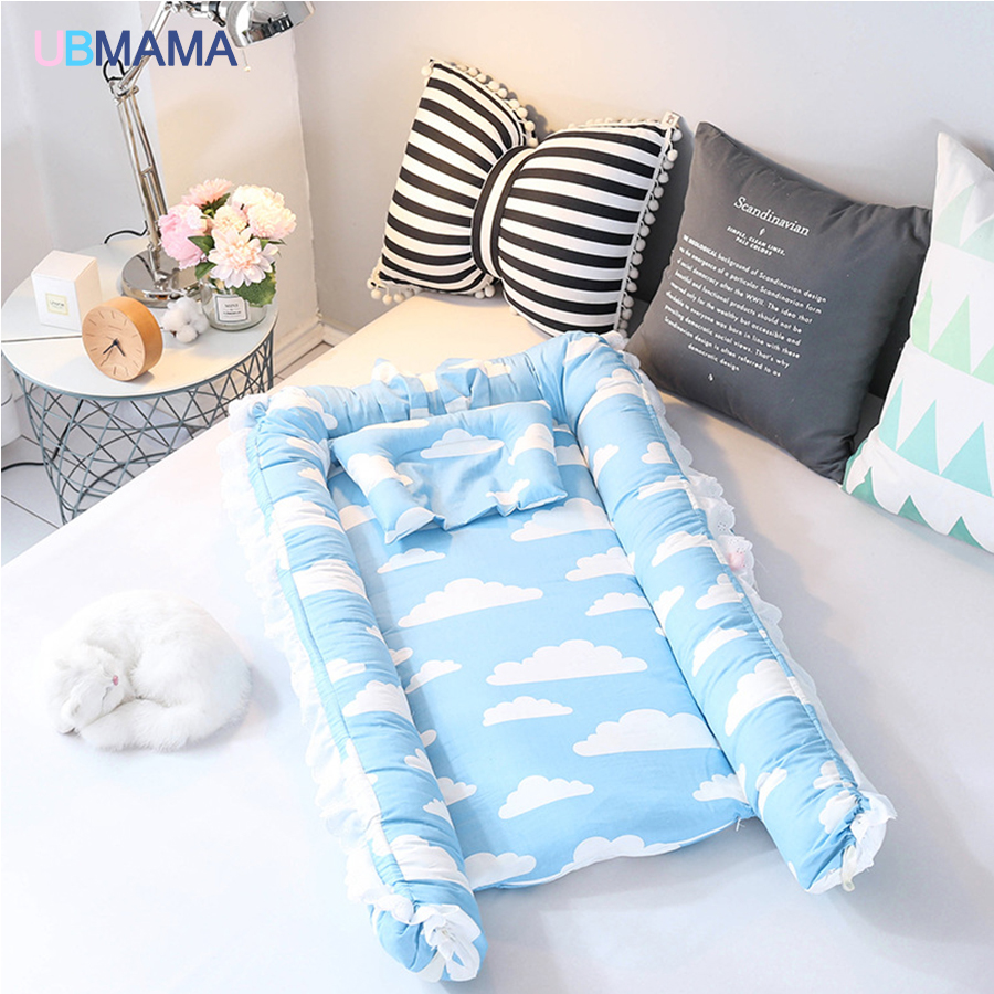 Travel Foldable Portable Stripde Solid Baby Sleeper Cotton