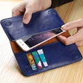 5.5 Universal Genuine Leather Flip Mobile Phone Wallet Pouch For Galaxy S4 Mini J1 S6 S7 Edge A3 A5 Core Prime 7 Plus Phone Case