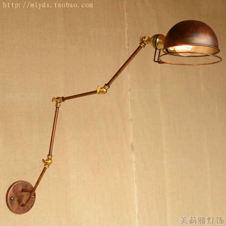 American RH Retro Industrial Wall Light Fixtures Swing Long Arm Lamp Vintage Edison Wall Sconce Apliques Pared Led цена