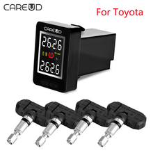 U912 CAREUD TPMS Para Toyota/U903/U906C Coche Sistema de Monitoreo de Presión de Neumáticos Inalámbrico con 4 antirrobo Sensores internos