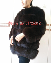 Real fur fox fur coat 70horizontal segment length coat and long sections