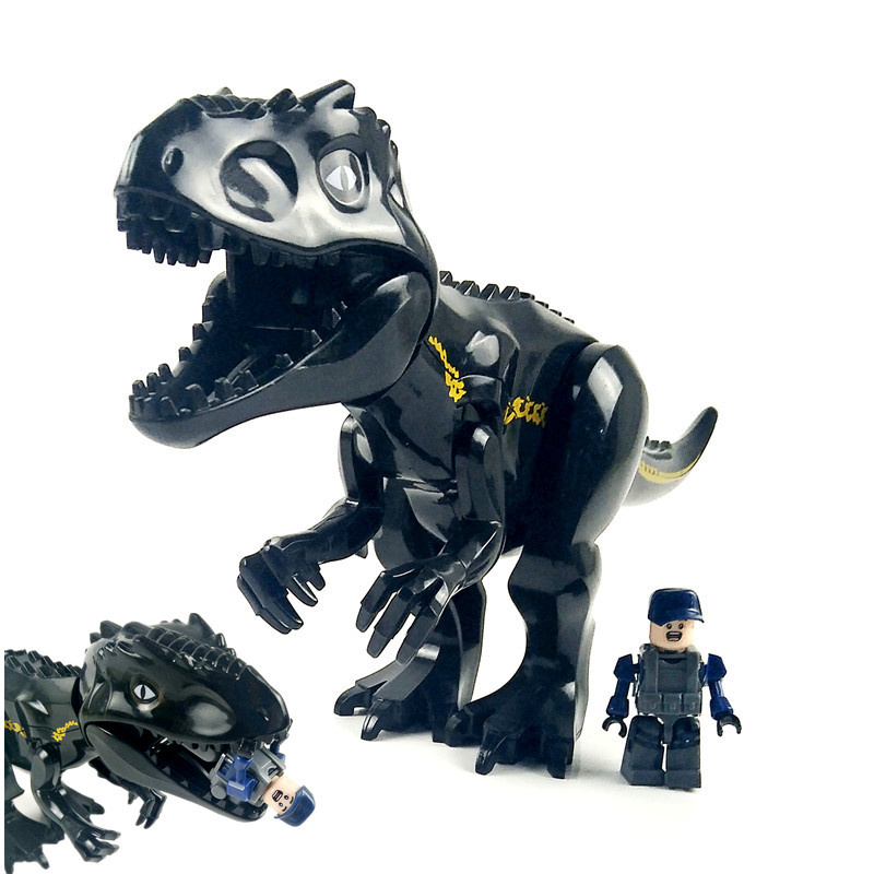 Compatible with Lego Jurassic World Park Tyrannosaurus Indominus Rex Indoraptor Building Blocks Dinosaur Figures Bricks Toys building blocks 82028 jurassic world indominus rex tyrannosaurs t rex building blocks toys dinosaur bricks children gift toys