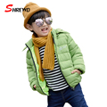 Kids Coats Jackets New 2017 Fashion Letter Hooded Girls Winter Jackets Long Sleeve Zipper Thick Baby Girl Clothes 6389W