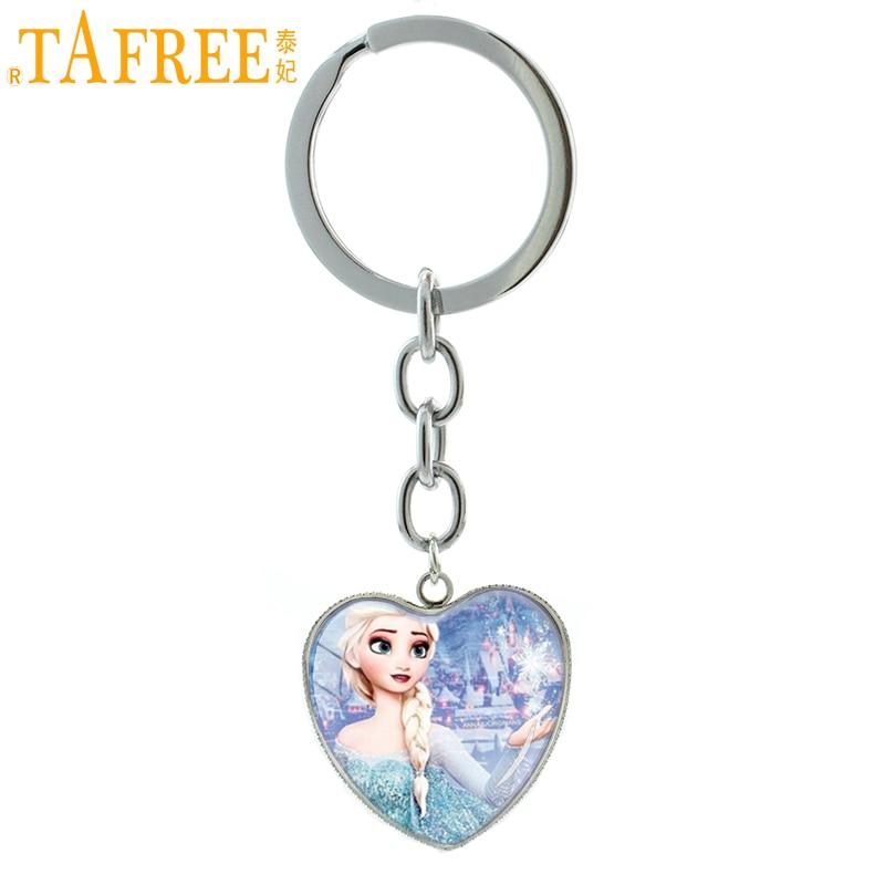 Constructive Tafree Anime Cartoon Snow Queen Keychain Elsa Anna Movie Princess Key Chain Ring Women The Explorer Jewelry Hp244 To Ensure Smooth Transmission