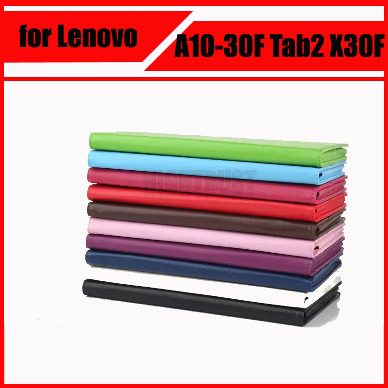 High Quatily PU Leather Cover Stand Case for Lenovo Tab 2 A10 30 A10-30 A10-30F Tab2 X30F tablet case + Screen Protectors for lenovo tab2 a10 70f smart flip leather case cover for lenovo tab 2 a10 70 a10 70f a10 70l tablet 10 1 with screen protector