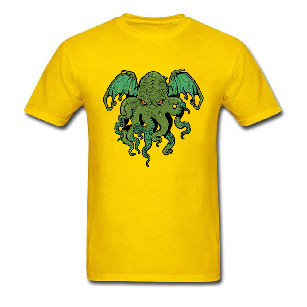 cthulhu 10992 Design ostern Day 100% Cotton Round Collar Mens Tees Summer Tee Shirt Family Short Sleeve T Shirts cthulhu 10992 yellow