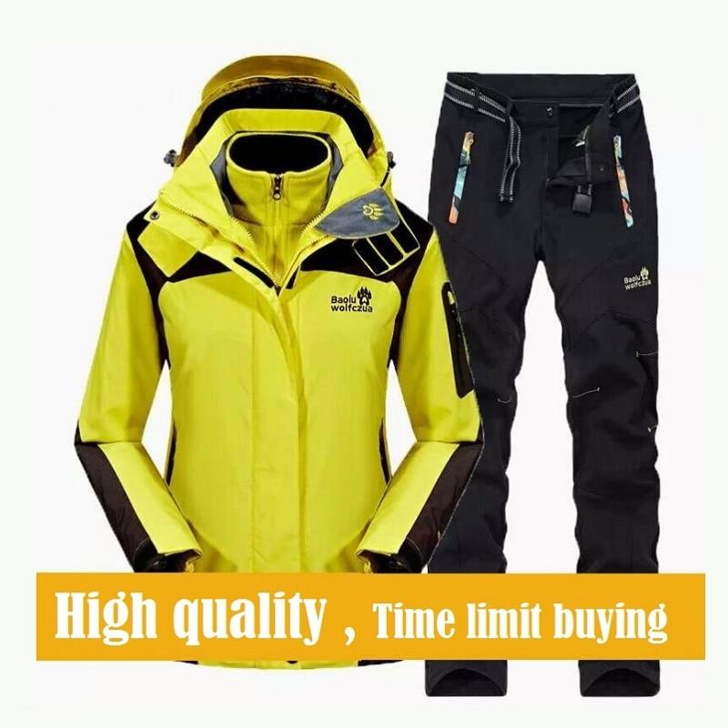 2017 Winter Ski suit Men's Windproof Waterproof Snowboarding Skiing Jacket and Pants Super Warm Fleece Sports Clothes Set