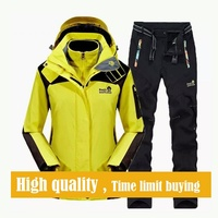 2017 зимний лыжный костюм Для мужчин ветрозащитный Водонепроницаемый Сноубординг Лыжный спорт куртка и штаны супер теплый флис Спортивная о
