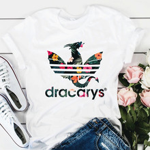 DRACARYS Original 2019 Game Of Thrones Tshirt t shirt Women Mother Of Dragons T-Shirts King Queen Girls Friends Mon Gift Tee(China)