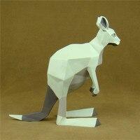 Modern Abstract Kangaroo Sculpture Geometric Resin Roo Statue Marsupial Animal Novelty Artwork Decor Gift and Craft Ornament