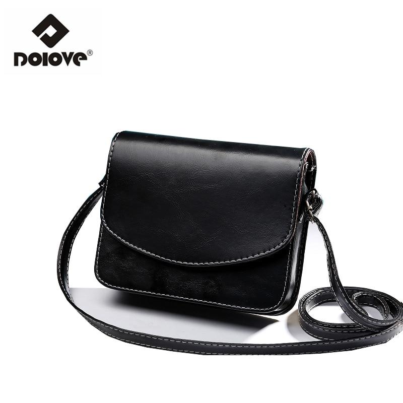 771104c45f DOLOVE 2017 Mini Women Bags Oil Wax PU Leather Women Messenger Bags Small  Fashion Shoulder Handbags Bag