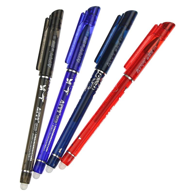 Стираемая гелевая ручка, красные, синие, черные, красные чернила, волшебные канцелярские принадлежности, нейтральная ручка для письма, Запа...