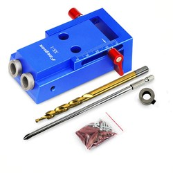 Mini Lubang Saku Kit Sistem + 9.5 Mm Langkah Bor Bit Aksesoris untuk Kayu Bekerja & Bengkel Tukang Kayu set Alat
