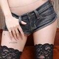 Women Thong Micro Mini Jean Hot Shorts Denim Booty Sexy Clubwear Blue New 055-361