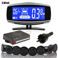 8 Rear Front View Car Parking Sensor Reverse Backup Radar System with LCD Display Monitor Car Kit