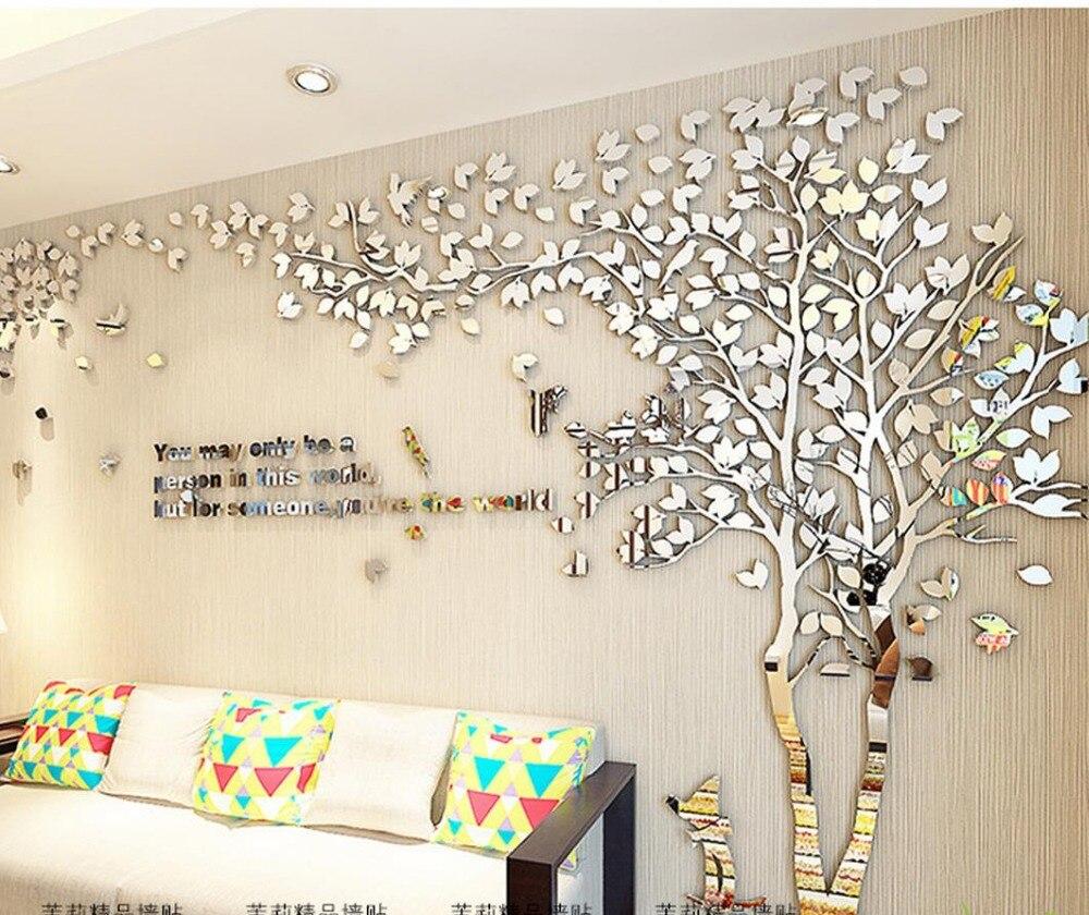 Kreative 3 d baum acryl wandaufkleber wohnzimmer sofa ...