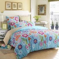 Home Textile 4pcs/set Bedding Set Duvet Cover Sheet Pillow Case 100% Cotton Trentham Gardens Style Flowers Design 2 size L/XL
