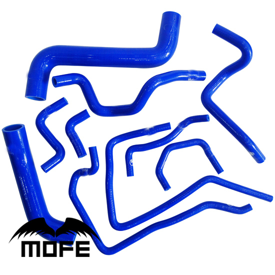 10PCS Original Logo Radiator Silicone Coolant Heater Hose Kit For Impreza WRX STI 10 Generation 2.0T 2009~ Blue reinforced radiator coolant silicone hose for mitsubishi evolution evo x 10 10x cz4a 4b11 2008 2013 2012 2011 2010 2009