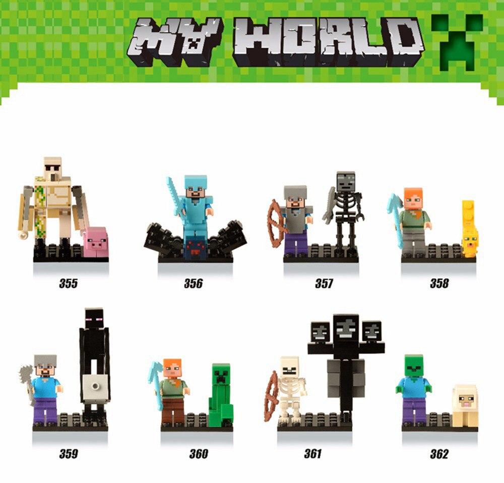 LEGOings DIY Style Zombie Steve Figure Building Blocks Model Kits Toys Hot Sale Compatible City Brinquedos