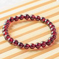 iVeeka 100% Natural Stone Garnet Strand Bracelet for Girls Trendy Gifts Package