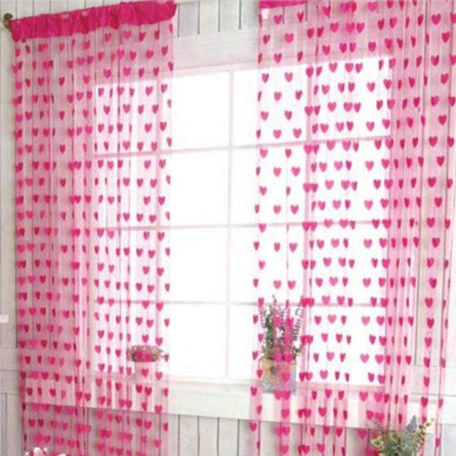 Hot Sale Heart String Curtain Window Door Balcony Home Decoration ...