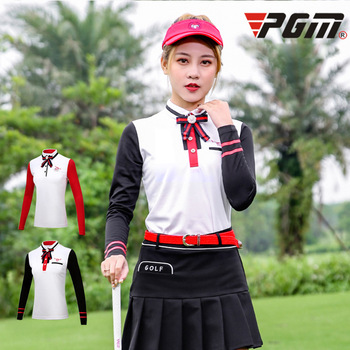 PGM autumn winter Golf costume ladies long sleeves T-shirt golf clothing Institute Wind Suit