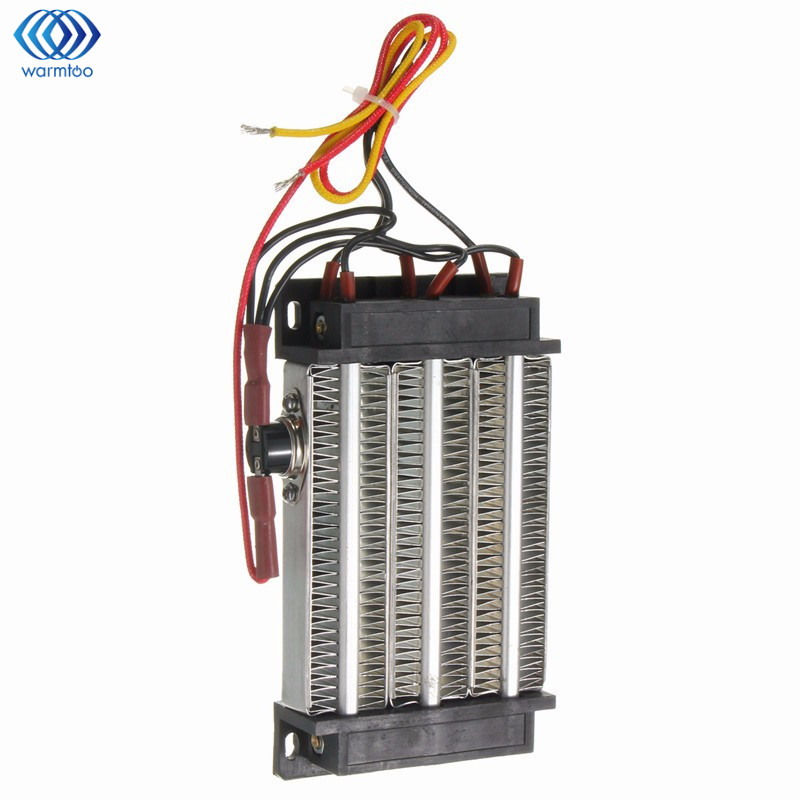 Electric Ceramic Thermostatic Insulated PTC Heating Element AC 110V 750W Thermostat Heater Heat Conduction Warm Air Blower