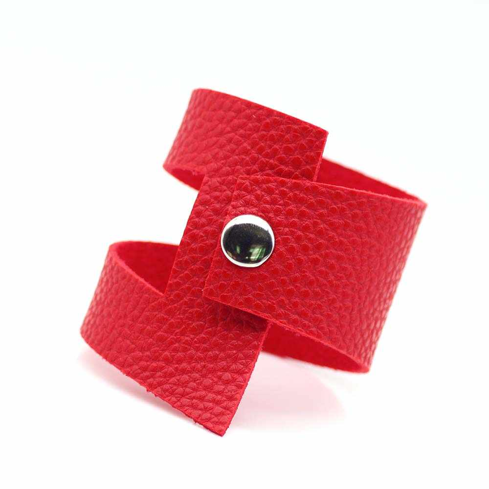 2019 New 5 Color Luxury Leather Bracelets For Women Silver Choose Designer Handmade Punk Jewelry Christmas Gift
