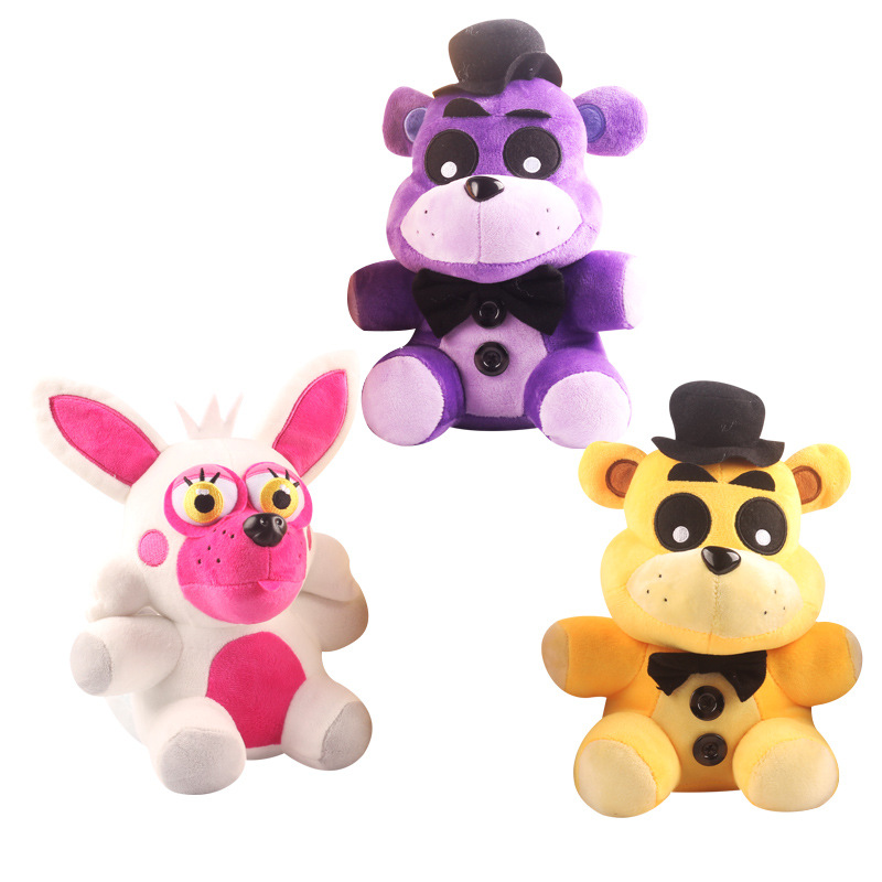 1pcs 18cm Five Nights At Freddy's FNAF Freddy Fazbear Bear & Foxy Plush Toys Doll Soft Stuffed Animals Toys for Kids Xmas Gifts wholesale five nights at freddy s 4 fnaf freddy fazbear bear foxy plush toys doll kids birthday gift