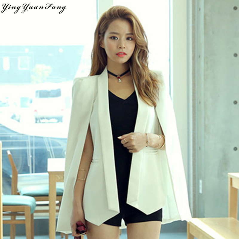 YingYuanFang New fashion women fake two suit cloak   coat