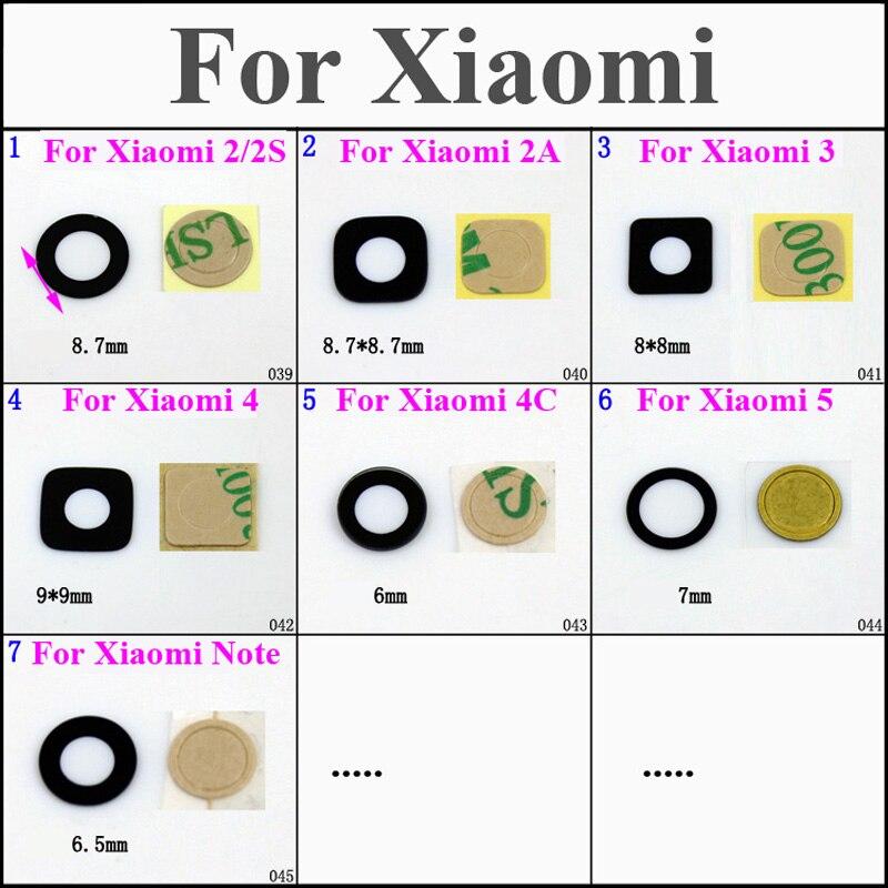1set New high quality Rear Camera Glass Lens lenses and lens Lens sticker for Xiaomi 2 2S 2A 3 4 5 Mi3 Mi4 4C Mi5 Note