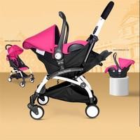 Baby Cars Seat Stroller 4 In 1 Folding Umbrella Bebe New Stroller Buggy Babies Cradle Chair Infants Car Safe Seat Lightweight