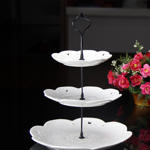 Image 4 - 2/3 Layers Crown Cake Plate Stand Desserts Pastry Rack Holder Fitting Wedding Without Plate Cake Tools Decor